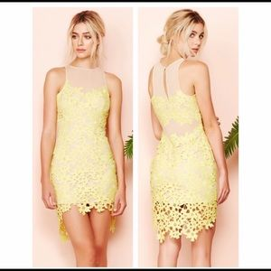 Lover's and Friends Larissa Dress Yellow